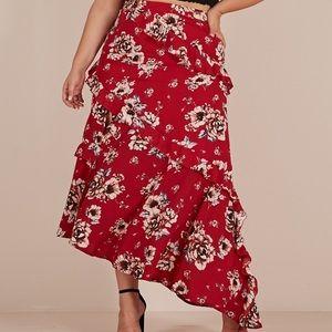 Showpo around town floral skirt